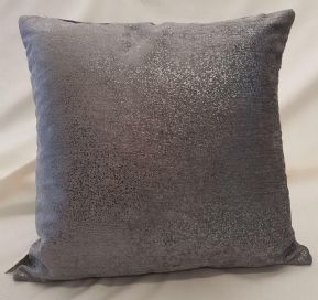 "SET OF 2 GLITTERING SPARKLES DARK SLATE GREY VELVET 18"" CUSHION COVER £13.98 SET"